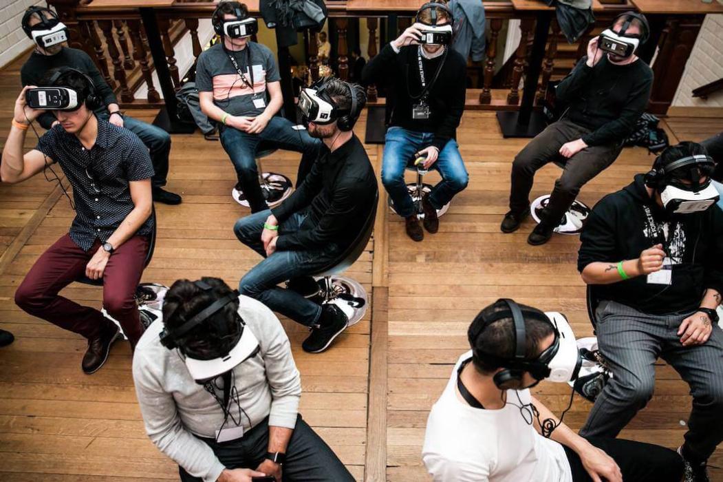 VR synchronic presentation during VR Days fairs in Amsterdam