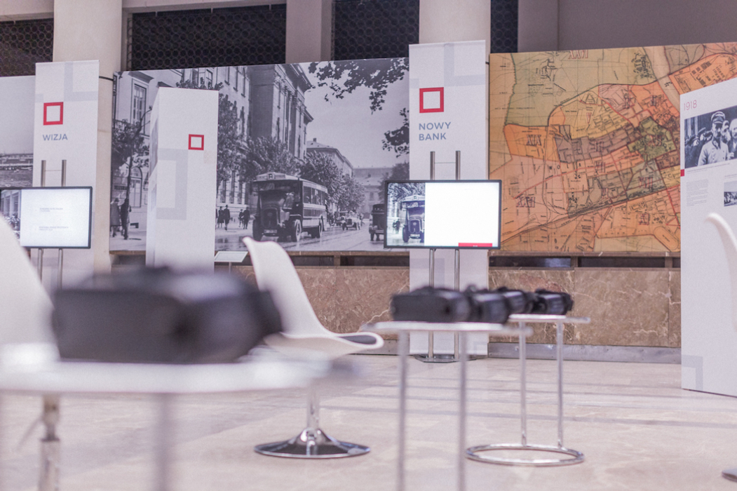 VR experience as part of the exhibition presenting state bank's history